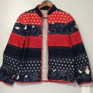 Vintage Star of Siam Red/Blue Palm Tree Jacket  44